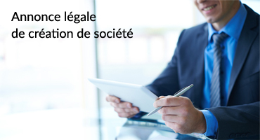 annonce legale creation societe